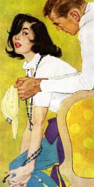 """Love is a Waiting Game - Saturday Evening Post """"Leading Ladies"""", February 6, 1960 pg.38 by Robert Jones"""