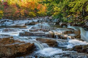 Water Plunges over the Falls on the Swift River at Rocky Gorge, White Mountain National Forest, Nh by Robert K. Olejniczak