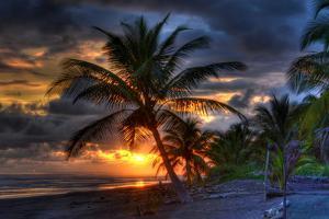Beach at Sunset by Robert Kaler
