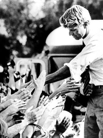 Robert Kennedy Shaking Hands During 1968 Campaign