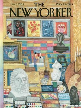 The New Yorker Cover - January 4, 1964 by Robert Kraus