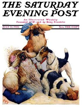 """""""Digging Doggy,"""" Saturday Evening Post Cover, July 31, 1926 by Robert L. Dickey"""