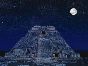 Pyramid of the Magician at Night by Robert Landau