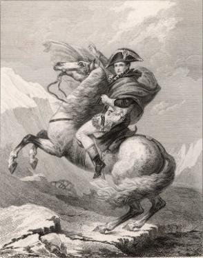 Napoleon I Crossing the Saint-Bernard Pass Through the Alps 1800 by Robert Lefevre