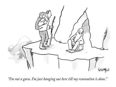 """""""I'm not a guru. I'm just hanging out here till my renovation is done."""" - New Yorker Cartoon"""