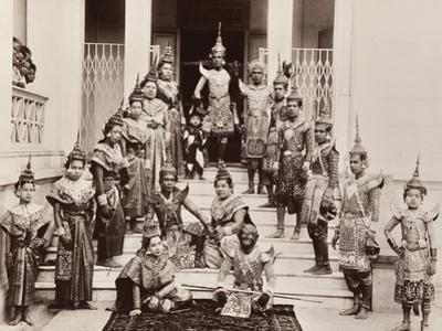 Thai Classical Dancers, C.1900 by Robert Lenz