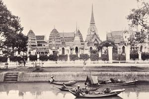 View of a Canal in Bangkok, C.1890 by Robert Lenz