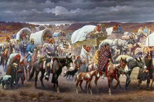 The Trail Of Tears, 1838 by Robert Lindneux