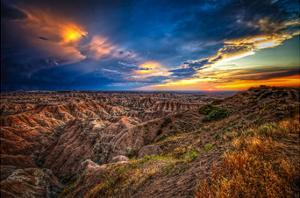 Badlands after Storm #3 by Robert Lott