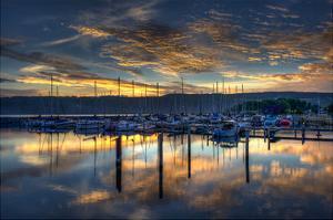 Seneca Lake Sunrise by Robert Lott