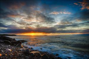 Sunrise on Boulder Beach by Robert Lott