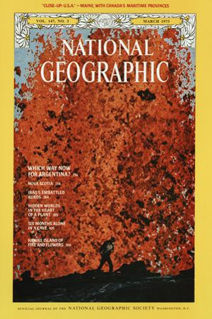 Cover of the March, 1975 National Geographic Magazine