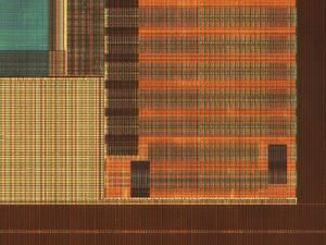 Micrograph of a Computer Microprocessor, LM X70 by Robert Markus