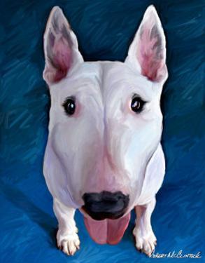 Bull Terrier Bronson by Robert Mcclintock