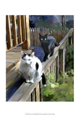 Cats Fencing by Robert Mcclintock