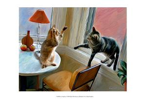 Cats Fighting by Robert Mcclintock