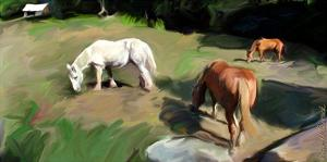 Guilford Horses I by Robert Mcclintock