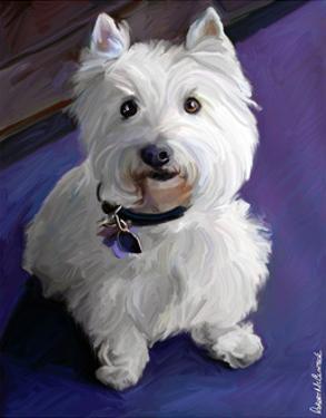 West Highland Terrier by Robert Mcclintock