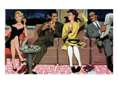 """The Artless Heiress, 2 - Saturday Evening Post """"Men at the Top"""", June 1, 1957 pg.17"""