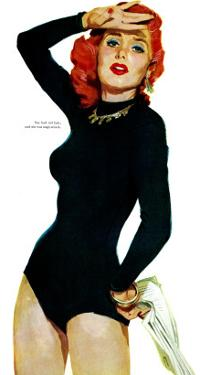"""Those Midford Girls, A - Saturday Evening Post """"Leading Ladies"""", December 31, 1955 pg.14 by Robert Meyers"""