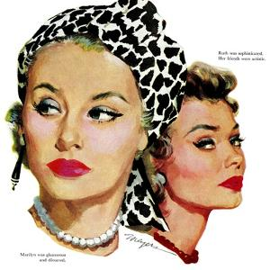 "Those Midford Girls, B - Saturday Evening Post ""Leading Ladies"", December 31, 1955 pg.15 by Robert Meyers"