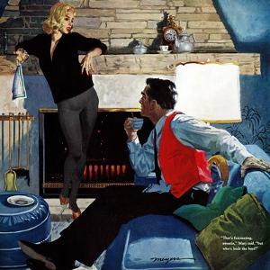 """What Husbands Don't Know - Saturday Evening Post """"Men at the Top"""", April 25, 1959 pg.26 by Robert Meyers"""