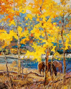 Fall Grazing by Robert Moore
