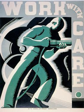 New Deal: Wpa Poster by Robert Muchley