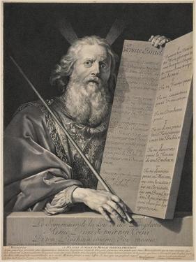 Moses Presenting the Ten Commandments, 1699 by Robert Nanteuil