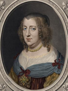 Portrait of Anne of Austria (1601-1066) by Robert Nanteuil