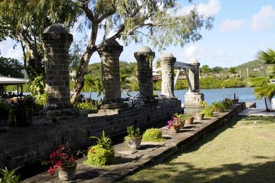 Old Sail Loft Stone Columns