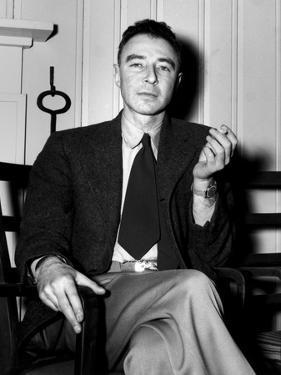 Robert Oppenheimer at the Clinton Engineer Works (Oak Ridge) of the Manhattan Project