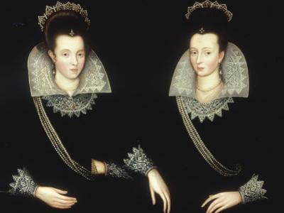 Portrait of Two Sisters, Probably Anne of Denmark with her Sister Elizabeth