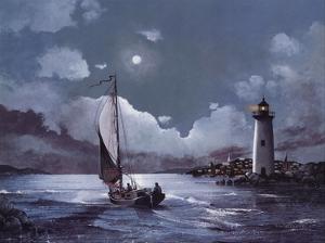 Moonlit Sail by Robert Radcliffe