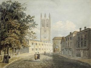 Magdalen College and the Eastern End of the High Street by Robert Revd Nixon
