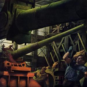 """Gun Factory,"" November 18, 1944 by Robert Riggs"