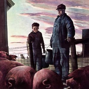 """""""Slopping the Pigs,""""November 1, 1942 by Robert Riggs"""