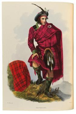 An Illustration from 'The Clans of the Scottish Highlands' by Robert Ronald McIan