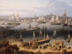 Boston Harbor, 1843 by Robert Salmon