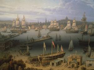 Boston Harbour, 1843 by Robert Salmon