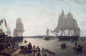 Boston Harbour from Constitution Wharf by Robert Salmon