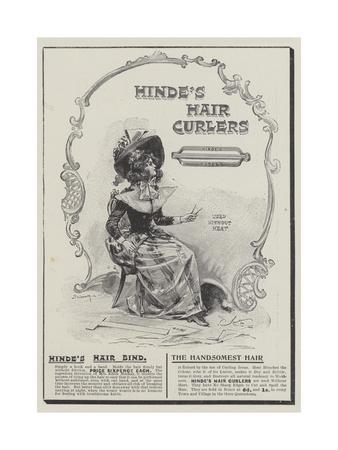 Advertisement, Hinde's Hair Curlers