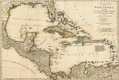 Complete Map of the West Indies, c.1776 by Robert Sayer