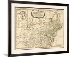 General Map of the Middle British Colonies, in America, c.1776 by Robert Sayer