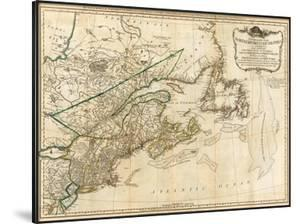 General Map of the Northern British Colonies in America, c.1776 by Robert Sayer