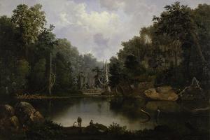 Blue Hole, Little Miami River, 1851 by Robert Scott Duncanson