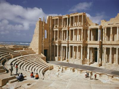 A Restored Theater at the Site of the Ancient Roman City of Sabratha by Robert Sisson