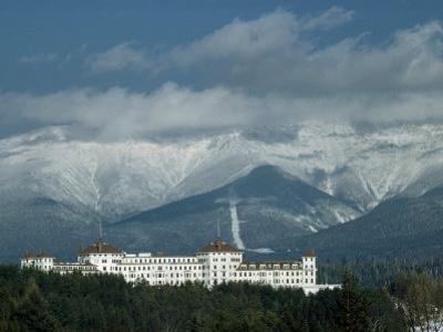 Cloud-Shrouded Mount Washington Frames Mount Washington Hotel