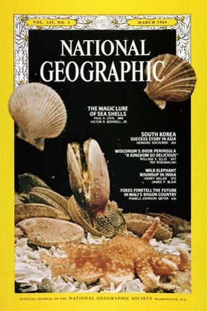 Cover of the March, 1969 National Geographic Magazine by Robert Sisson