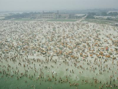 Crowds of People at Jones Beach by Robert Sisson